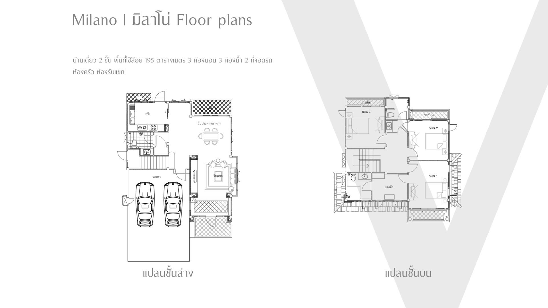 mirano floor plan เดอะเวนิส พาร์ค โคราช
